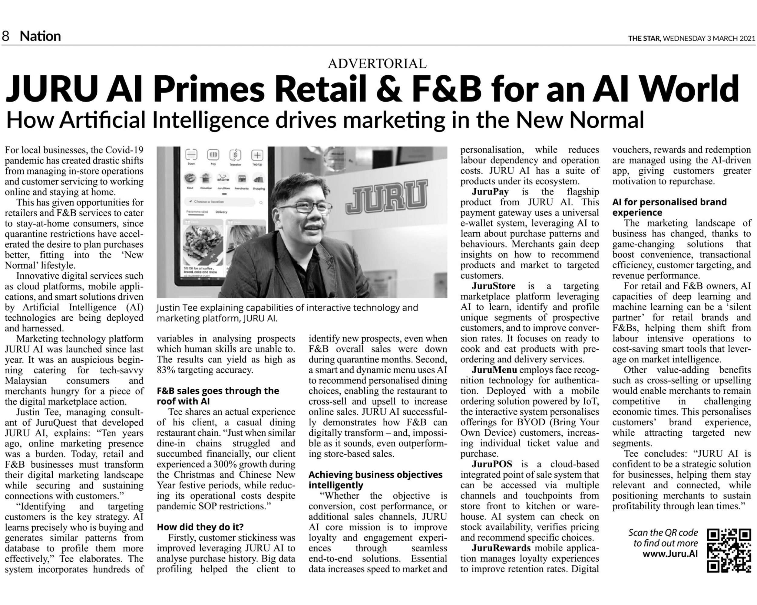 JuruAI in TheStar Newspaper on 3.3.2021